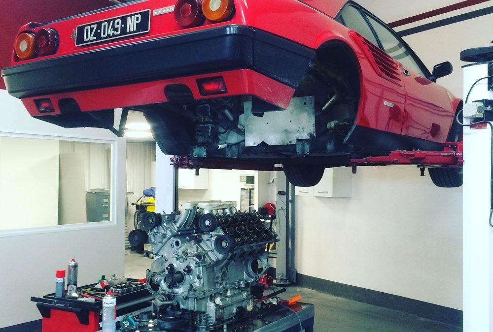 Restauration de voiture de collection : la Ferrari Mondial 8