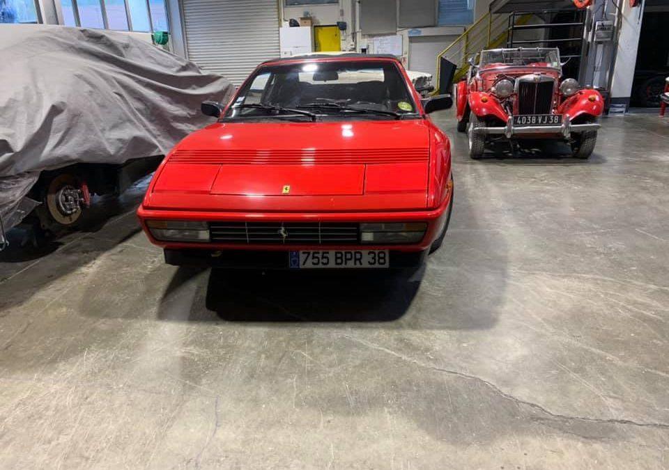 Réfection mécanique d'une Ferrari Mondial T cabriolet