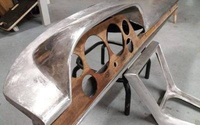 Fabrication d'un intérieur de Fiat Dino spider